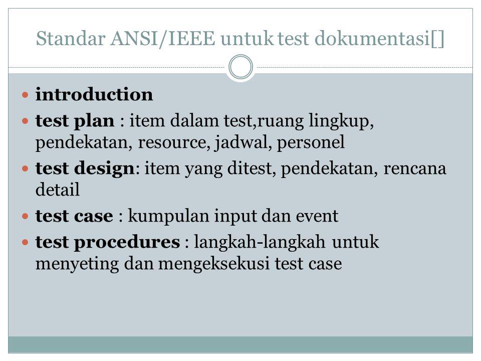 Standar ANSI/IEEE untuk test dokumentasi[]